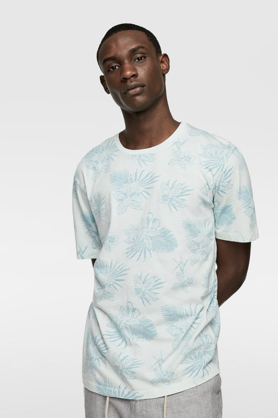 cdd90040c TROPICAL PRINT T-SHIRT - Item available in more colors