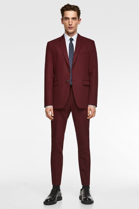 548eb59681d5b Image 1 of CHINTZ COMFORT SUIT BLAZER from Zara