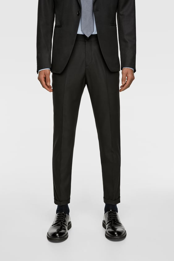 fbf410b9 CROPPED TEXTURED SUIT PANTS - Item available in more colors