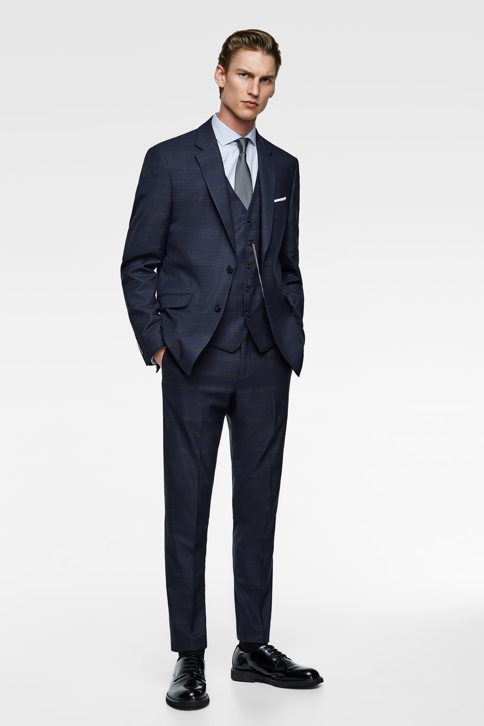 8754108fd2 CHECK SUIT BLAZER