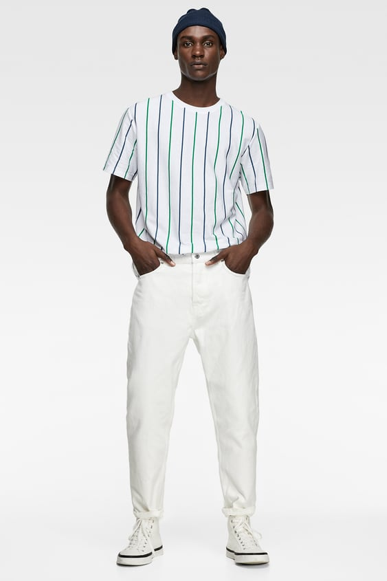 d2608fff T - SHIRT WITH VERTICAL STRIPES-View All-T-SHIRTS-MAN | ZARA Guatemala