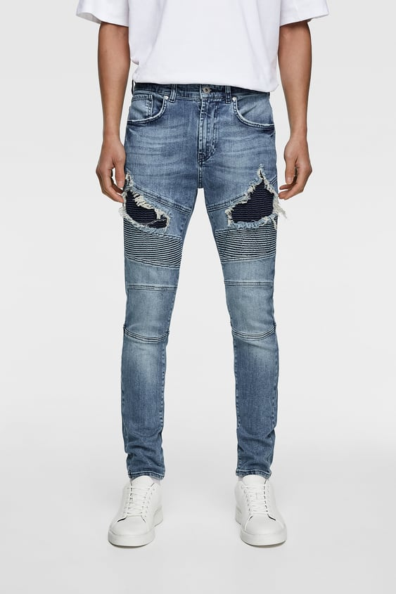 aea4e43b RIPPED BIKER JEANS - Item available in more colors