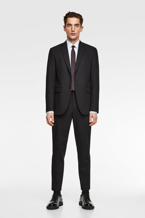 Stretch Suit Pants With Sheen  New Inman New Collection by Zara