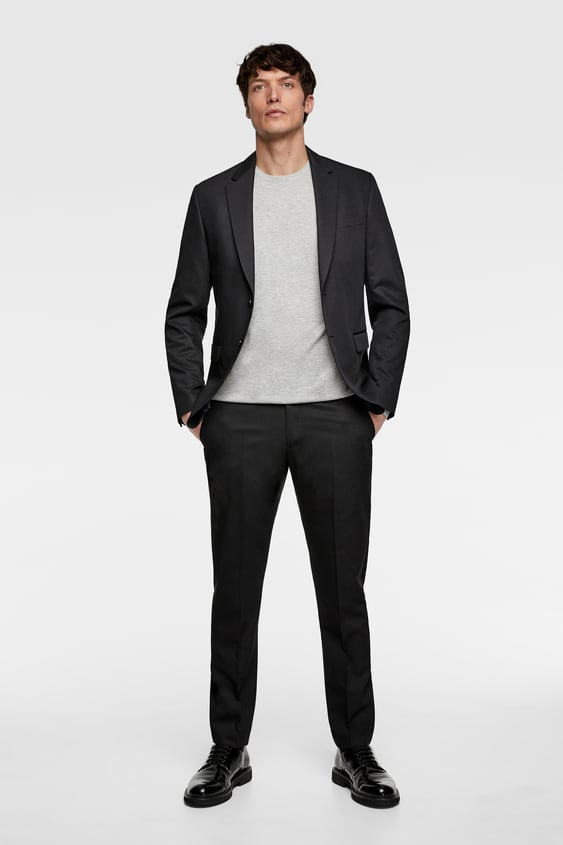 96150ac9 STRETCH SUIT PANTS WITH SHEEN - PANTS-MAN-SALE | ZARA United States