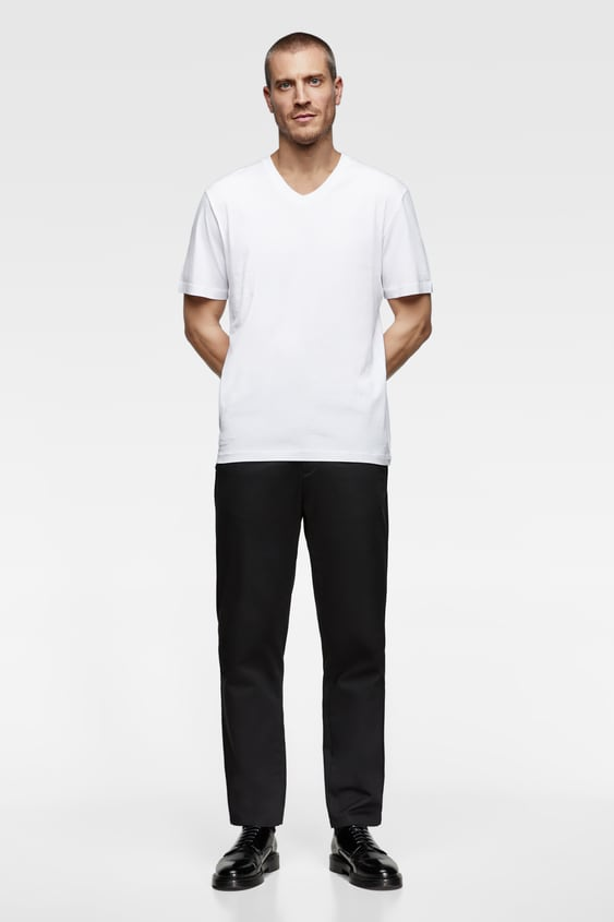 d79d24cdc BASIC V - NECK T-SHIRT-View All-T-SHIRTS-MAN-NEW COLLECTION | ZARA ...