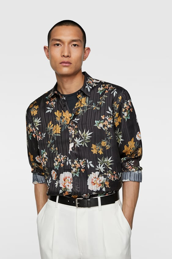 b8d92ec0ad49d7 Men's Printed Shirts | Online Sale | ZARA United Kingdom
