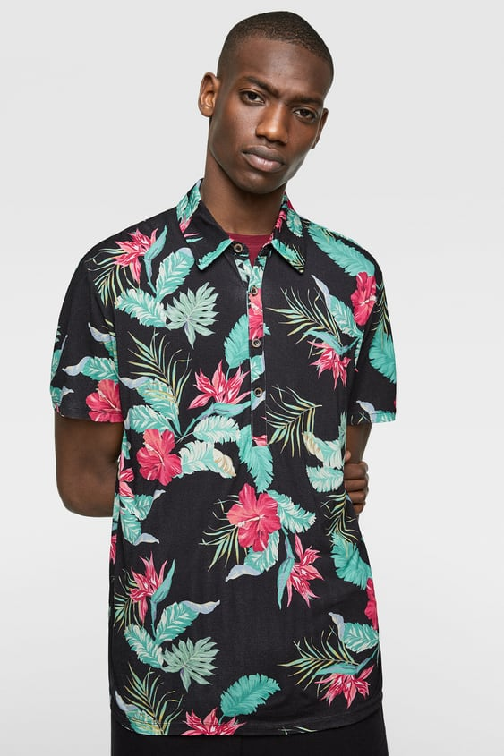 9c5d66e84c58 FLORAL PRINTED POLO SHIRT - Item available in more colors