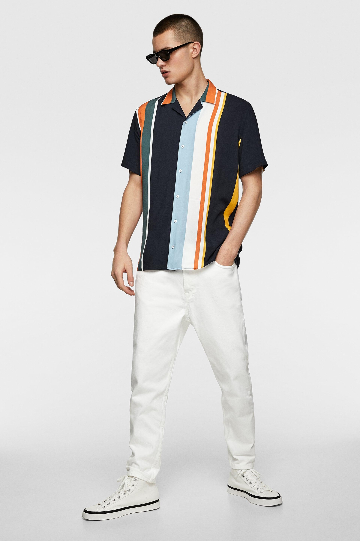 27f4b50f FLOWING STRIPED SHIRT - Short Sleeves-SHIRTS-MAN | ZARA Malta