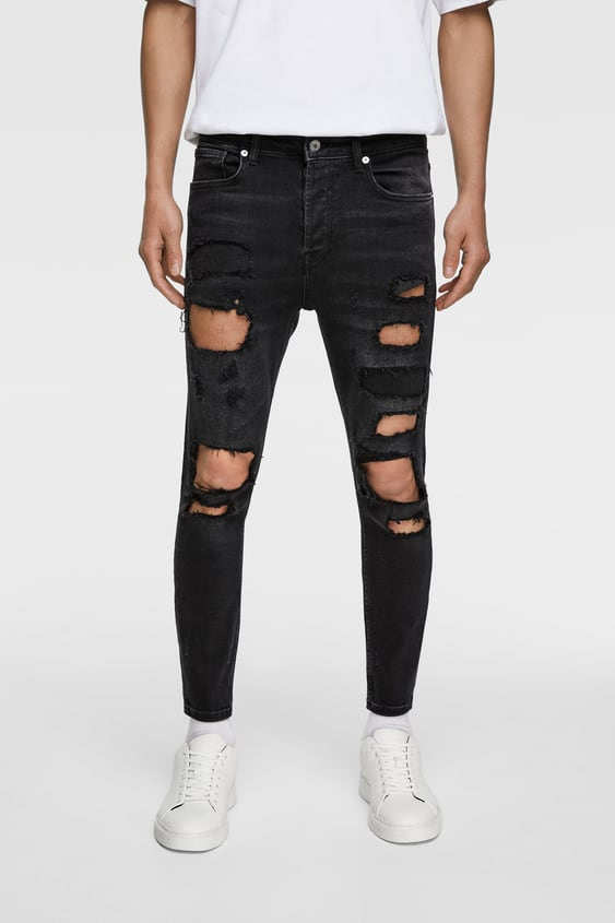 eec68748 RIPPED SKINNY JEANS - Item available in more colors