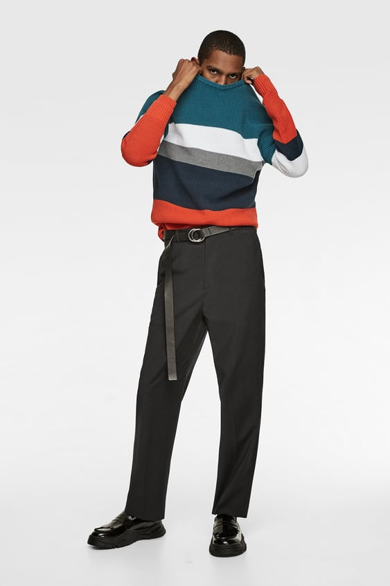 Block Color Raglan Sweater  View All Knitwear Man by Zara