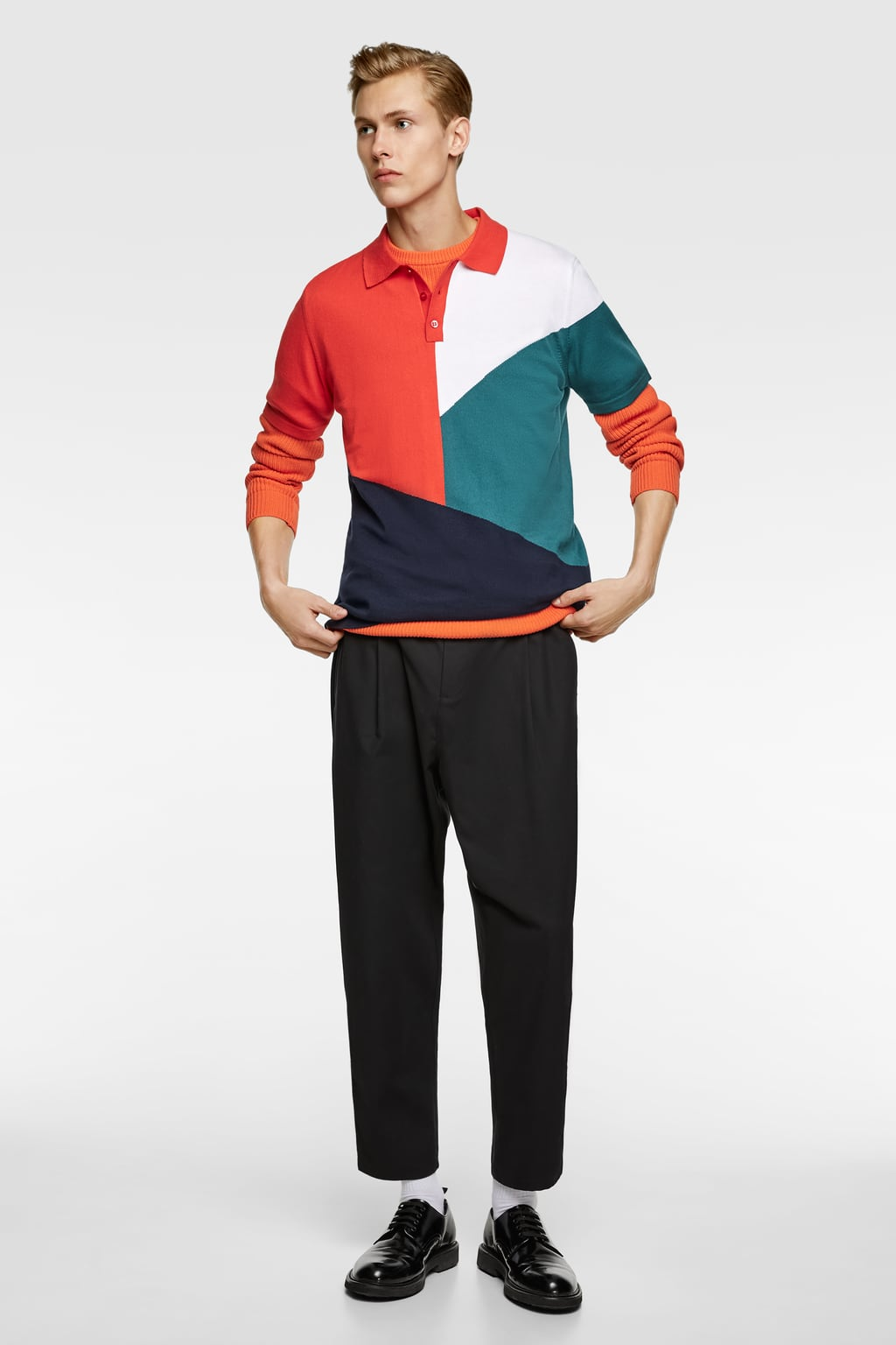 bb4a2b79a COLOR BLOCK POLO SHIRT - Available in more colours