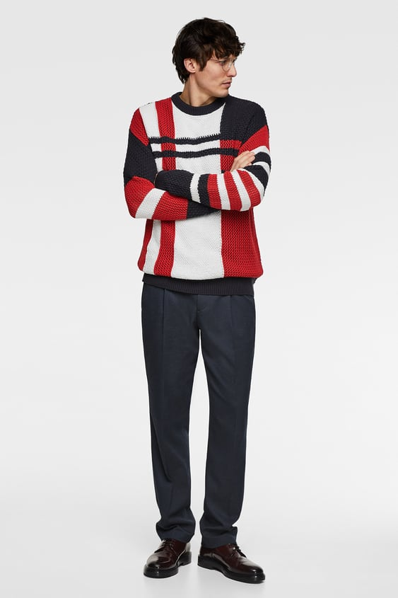 c208db4f INTARSIA COLOUR BLOCK SWEATER - Collection-ALL TIME-MAN-CORNER SHOPS ...