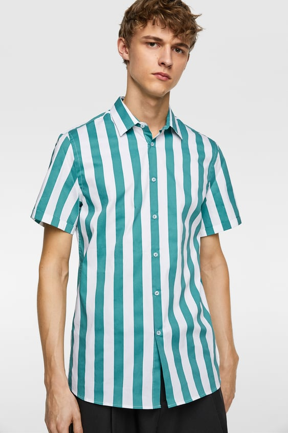 707eceadedc1 STRIPED STRETCHY SHIRT - Item available in more colors