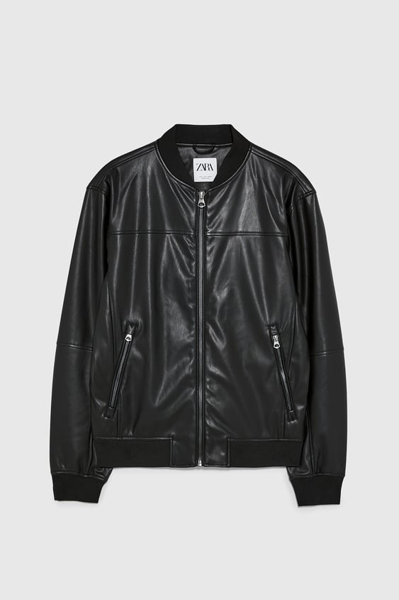 5e7337977 Men's Leather Jackets | New Collection Online | ZARA Australia