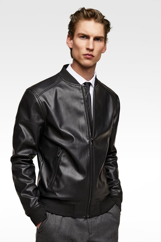 Men S Faux Leather Jackets New Collection Online Zara Denmark