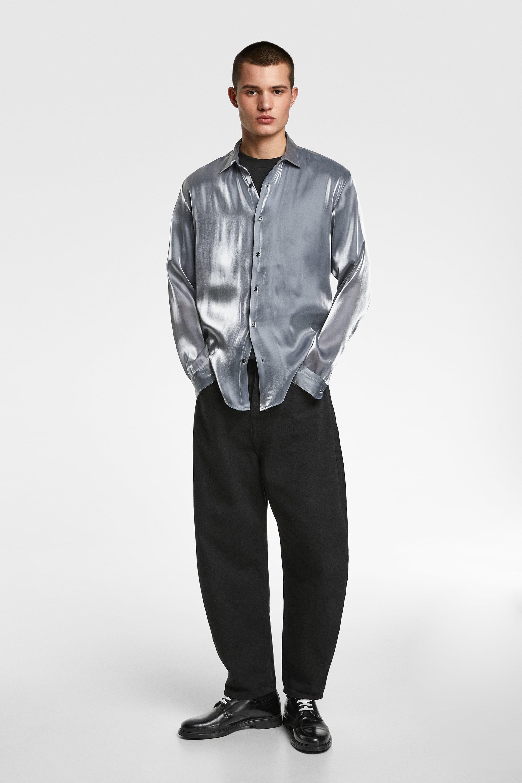 Skjorte Med LamÉ  Looknyheder Herre by Zara
