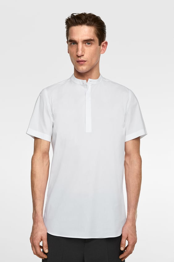 290cb3dc SUPERSLIM SHIRT WITH MANDARIN COLLAR - Item available in more colors