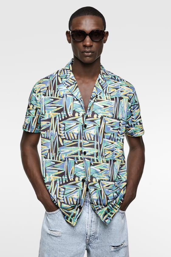 b7430c92c3c GEOMETRIC PRINT SHIRT - Available in more colours