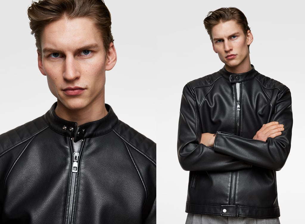 Men S Faux Leather Jackets New Collection Online Zara United States