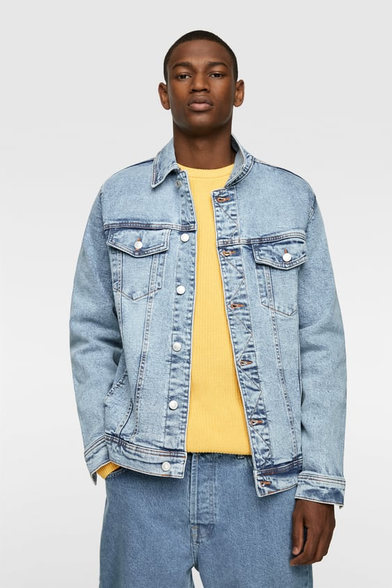 4251afdb Men's Denim Jackets | New Collection Online | ZARA India