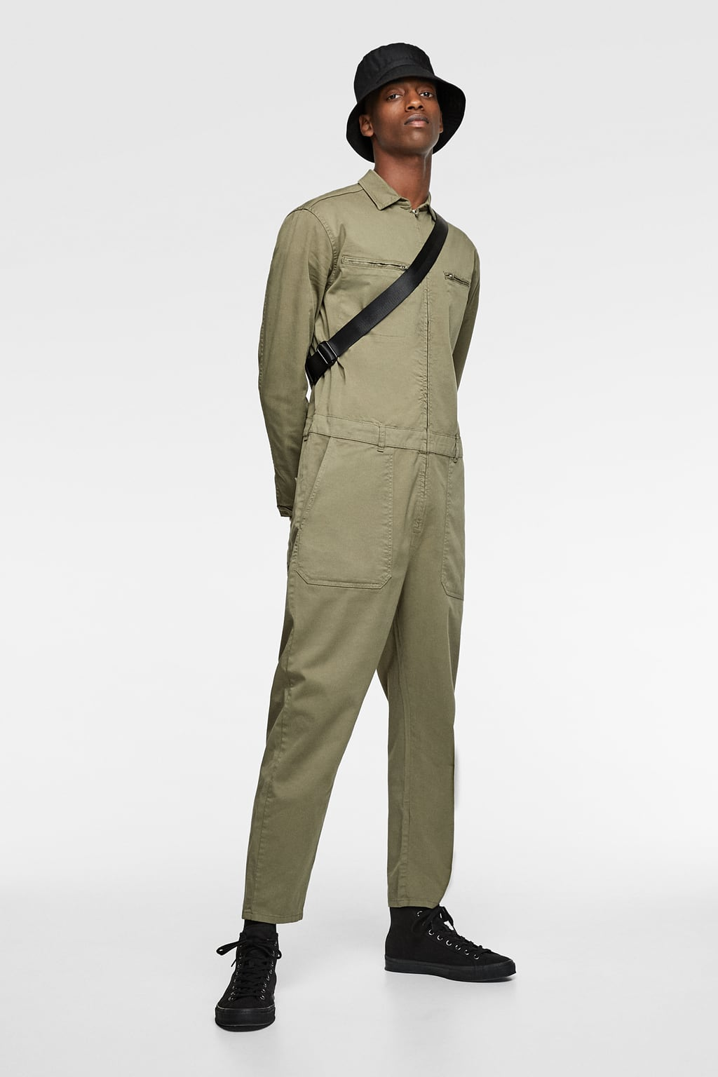 b70d80fca31b Image 1 of JUMPSUIT WITH POCKETS from Zara ...
