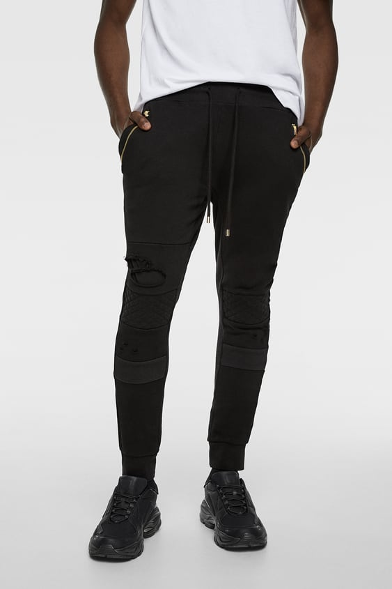 8326d08b RIPPED BIKER JOGGERS - View All-TROUSERS-MAN | ZARA International