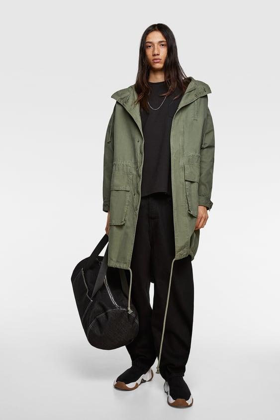 f50193205d PARKA WITH PRINTED BACK