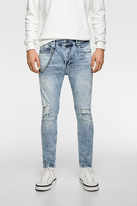 9c4ab263ec0 JEANS WITH CHAIN - Available in more colours