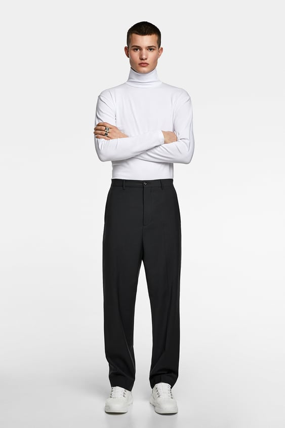 106d6ae1c22 Image 1 of TURTLENECK T-SHIRT from Zara