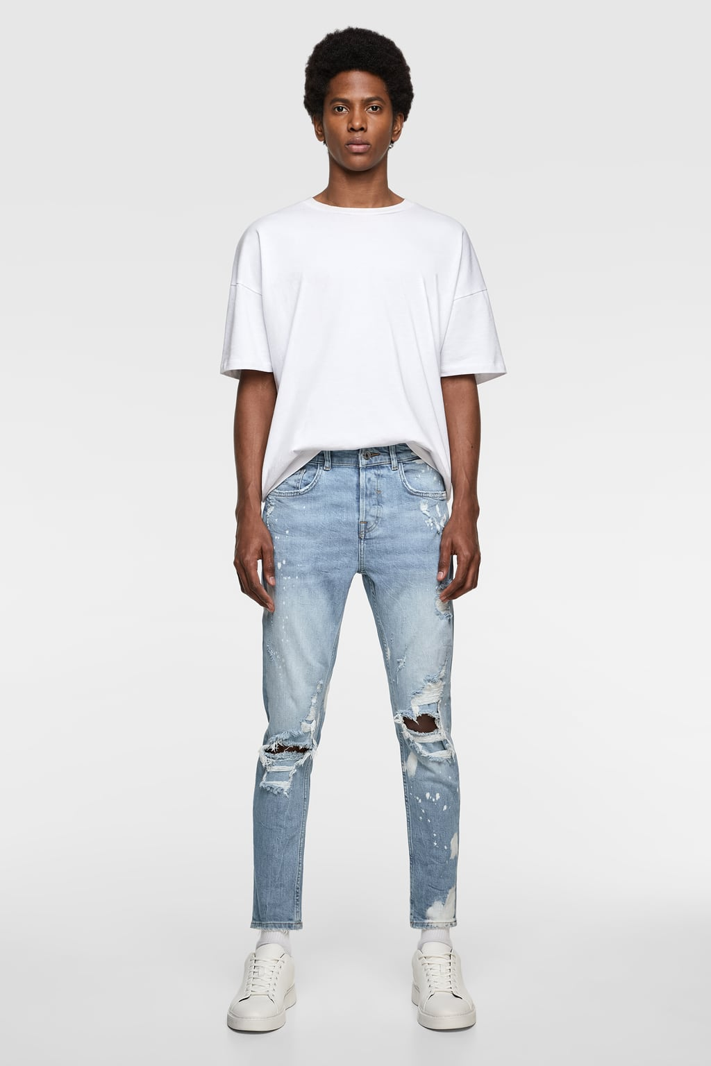 9bb2f1a7 SPLATTER-EFFECT SKINNY JEANS-View All-JEANS-MAN | ZARA India