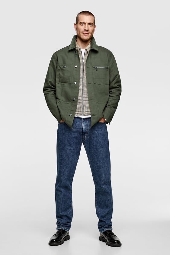 Contrasting Utility Jacket  View All Jackets Man by Zara
