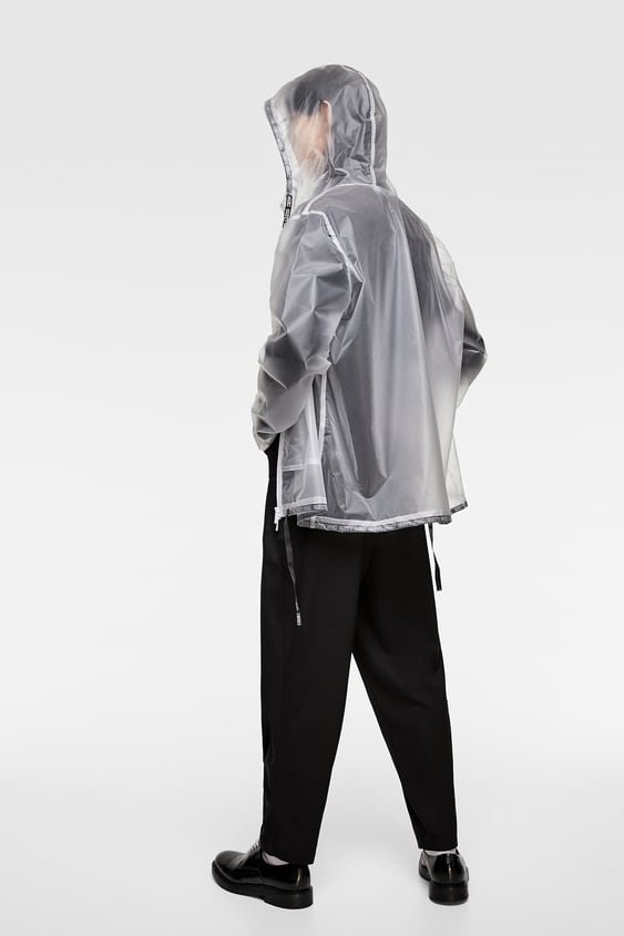 choose best extremely unique special discount of TRANSPARENT JACKET WITH DRAWSTRINGS