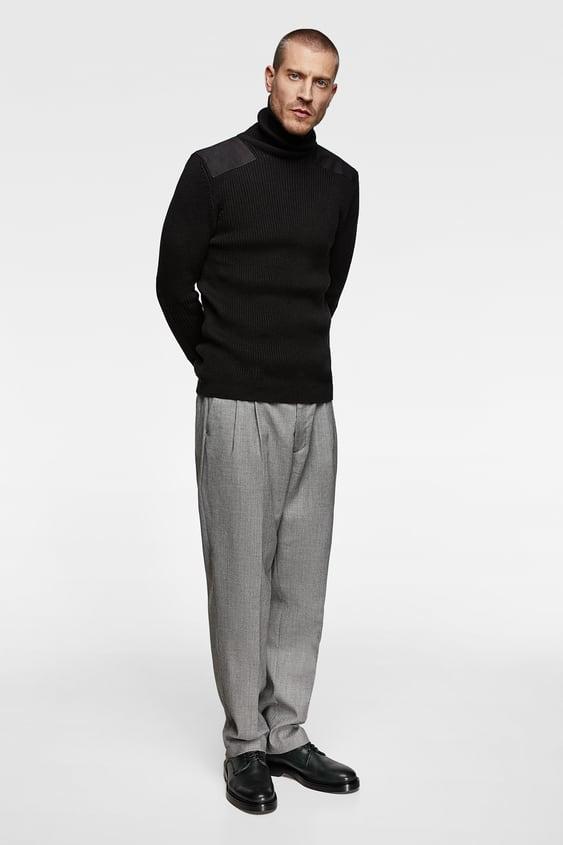 Knit Turtleneck Sweater With AppliquÉs  New Inman by Zara
