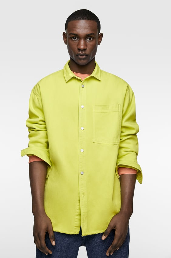 3ba5b8fb386 Image 2 of FLUORESCENT DENIM SHIRT from Zara
