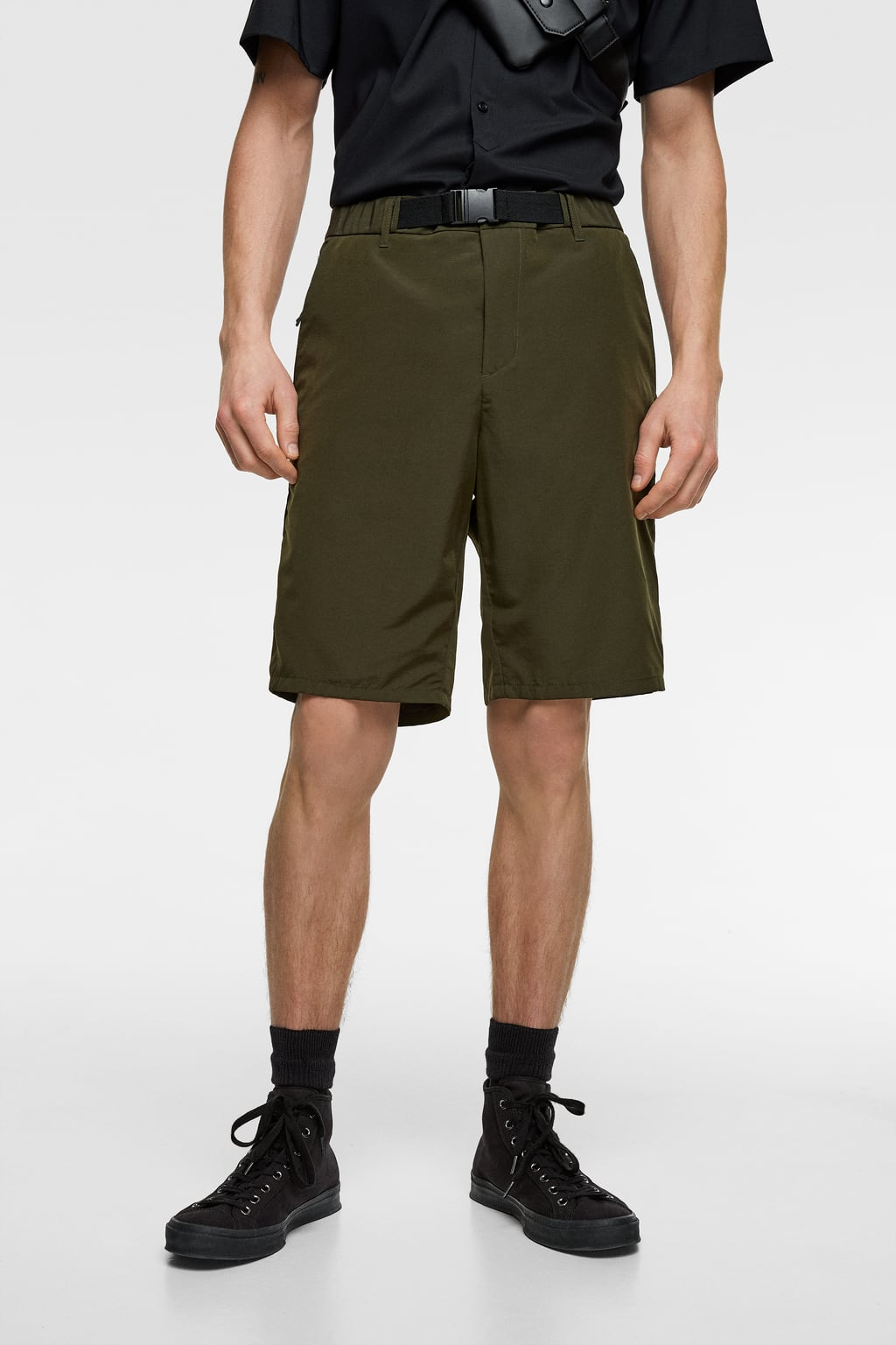 9958158460 BELTED TECHNICAL BERMUDA SHORTS - Available in more colours