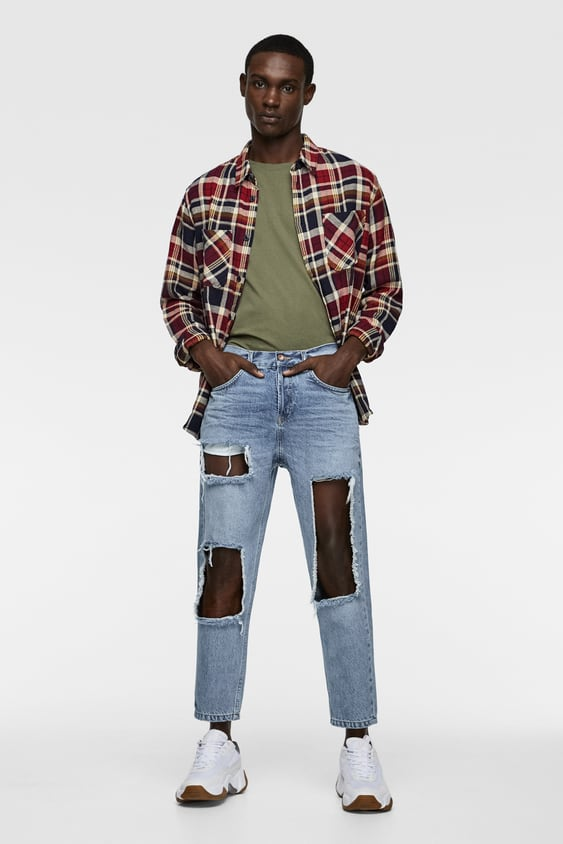 39912137 RIPPED JEANS - Distressed-JEANS-MAN | ZARA South Africa