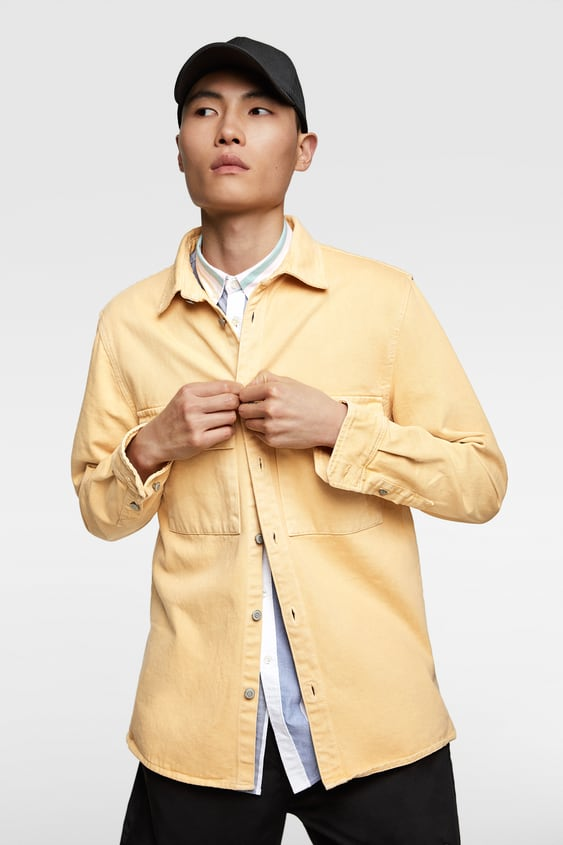 0da579c3 COLOURED DENIM OVERSHIRT - Available in more colours
