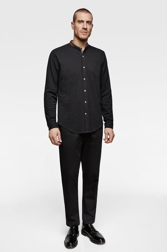 Col Mao Chemises Homme Zara Tunisie