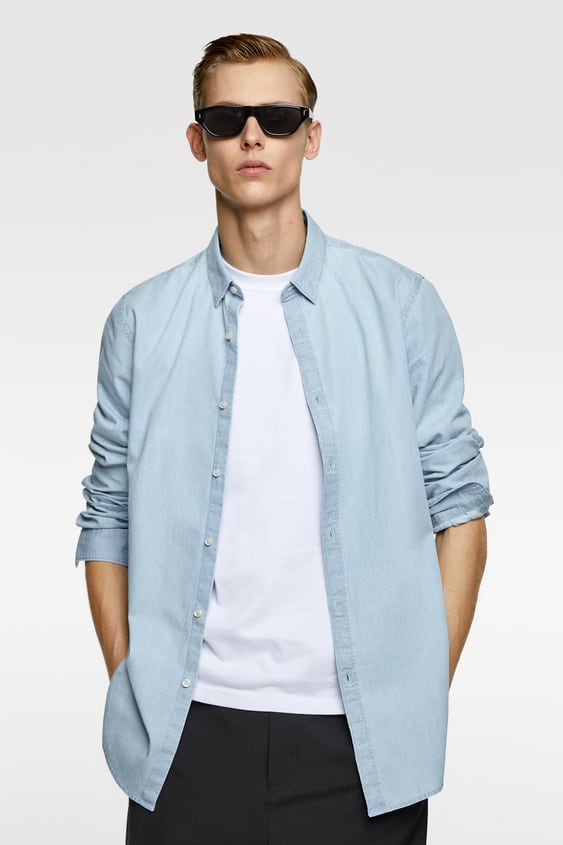 6e7b1c7012 WASHED DENIM SHIRT - Item available in more colors