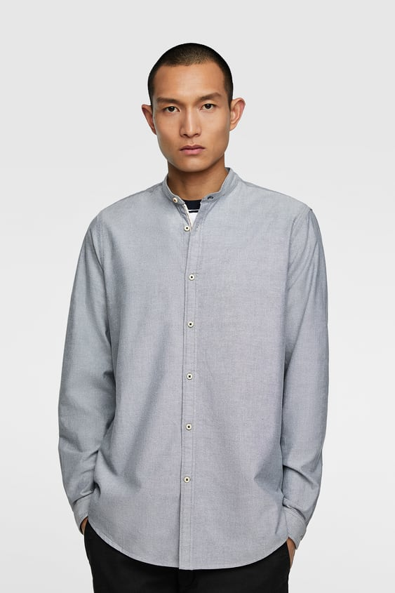 CAMISA OXFORD CUELLO MAO - Item available in more colors 258d21c627e