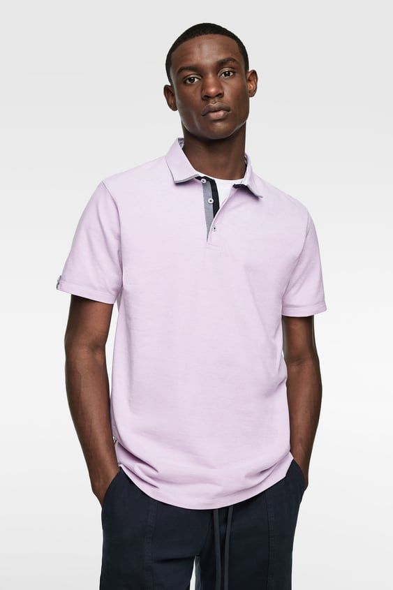0d1461b8 POLO SHIRT WITH CONTRAST COLLAR - Available in more colours