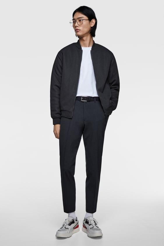 Puffer PiquÉ Bomber Jacket  View All Jackets Man by Zara