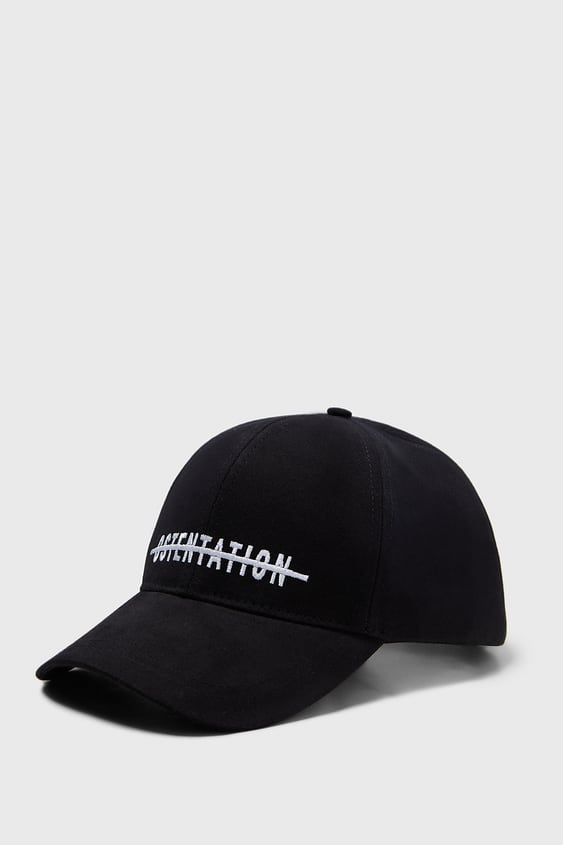 Embroidered Text Cap  New Inman by Zara