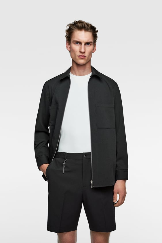 Mens Shorts New Collection Online Zara United States