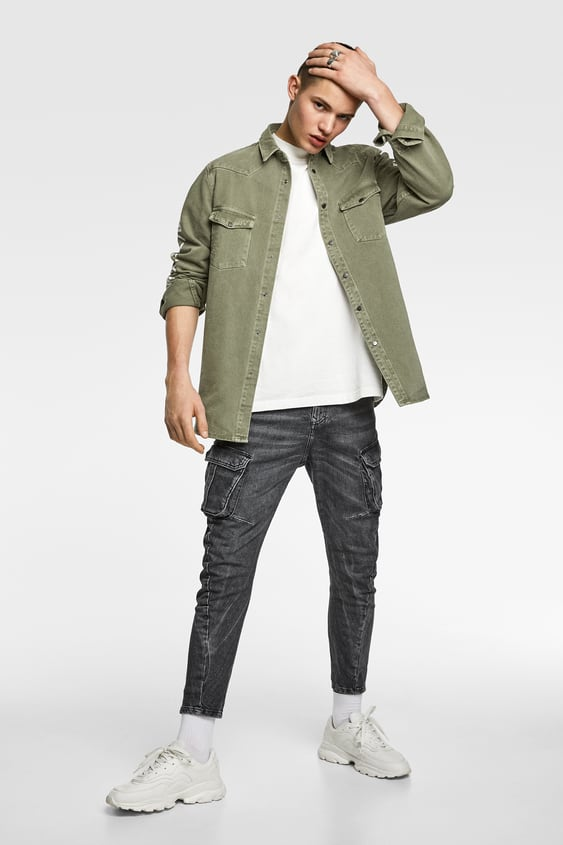 Cargo Jeans  View All Jeans Man by Zara
