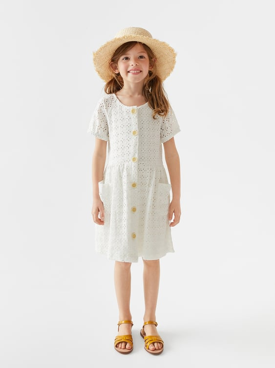 b421bcd07b6 DRESS WITH SWISS EMBROIDERY - Dresses-DRESSES AND JUMPSUITS-GIRL | 5 ...