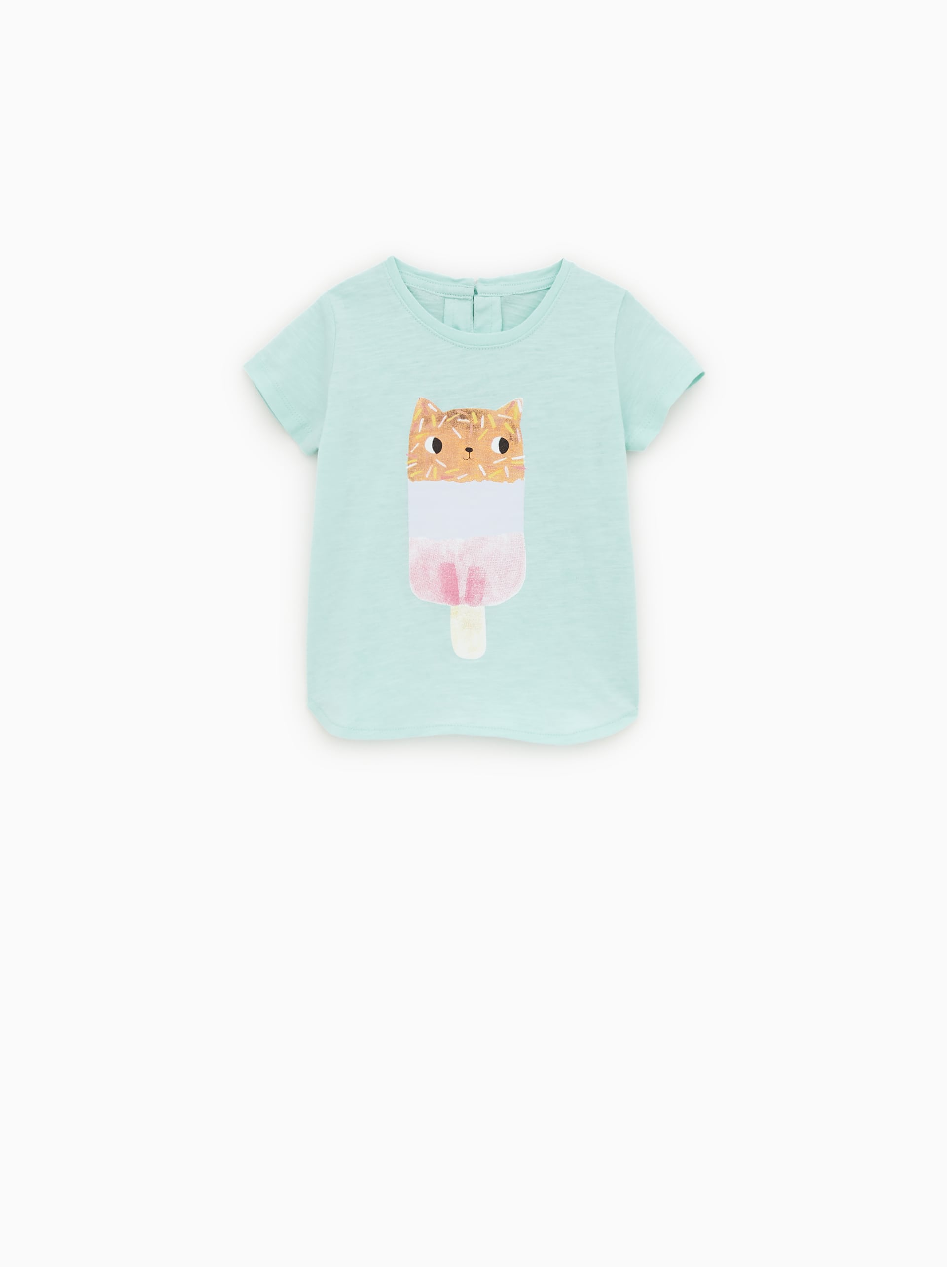 ecfc55d1 CAT PRINT T - SHIRT-FLUORS-SHOP BY COLLECTION-BABY GIRL | 3 mth - 5 ...