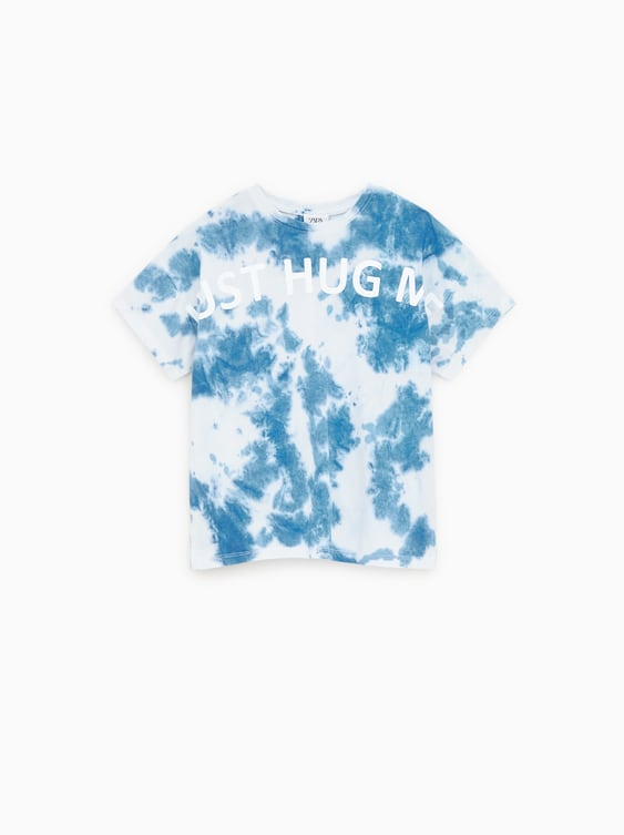 7727b8c03 TIE DYE T - SHIRT WITH TEXT-Print-T-SHIRTS-GIRL | 5 - 14 years-KIDS ...