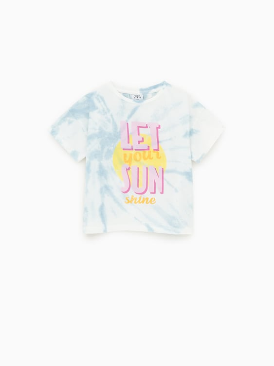 e057e7821 TIE - DYE T-SHIRT WITH SLOGAN-MUST HAVE-GIRL | 5-14 yrs-KIDS | ZARA ...