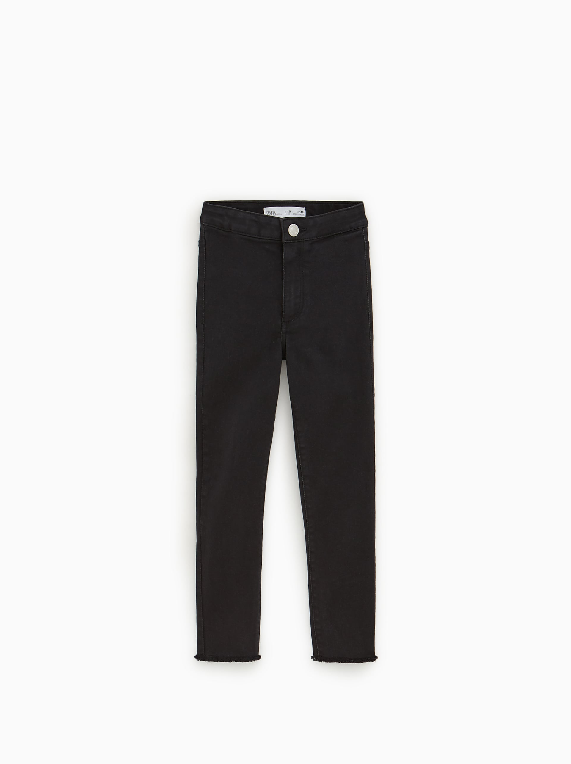 e84eb450 JEGGINGS WITH FRAYED HEMS - Plain-LEGGINGS AND TROUSERS-GIRL | 5-14 ...
